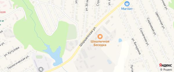 Шоршелская улица на карте поселка Кугеси с номерами домов