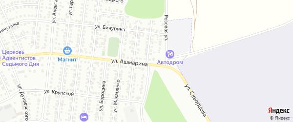 Улица Менжинского на карте Чебоксар с номерами домов