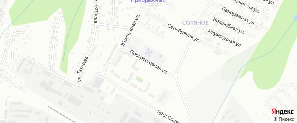 Прогрессивная улица на карте Чебоксар с номерами домов