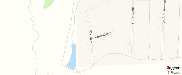 Южная улица на карте деревни Вудоялы с номерами домов