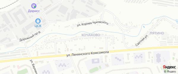 Улица Клары Цеткин на карте Чебоксар с номерами домов