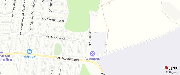 Розовая улица на карте Чебоксар с номерами домов