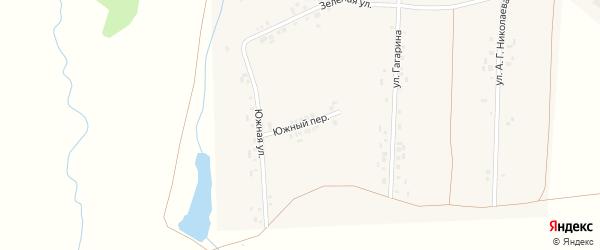Южный переулок на карте деревни Вудоялы с номерами домов