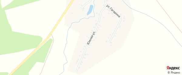 Южная улица на карте деревни Туруново с номерами домов