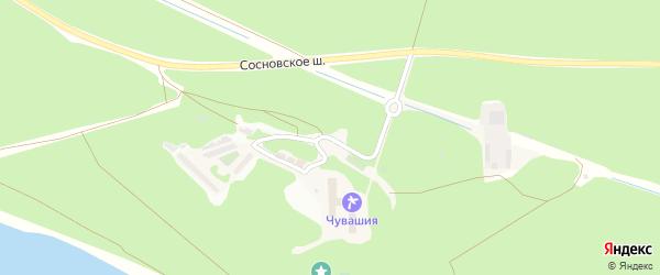 Санаторная улица на карте поселка Сосновки с номерами домов