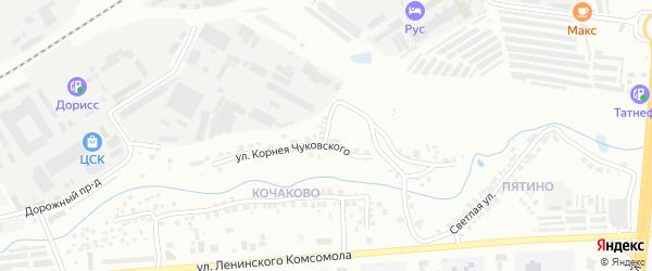 Улица Корнея Чуковского на карте Чебоксар с номерами домов