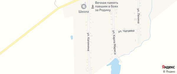 Улица Калинина на карте Комсомольского села с номерами домов