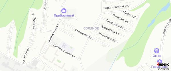 Серебряная улица на карте Чебоксар с номерами домов
