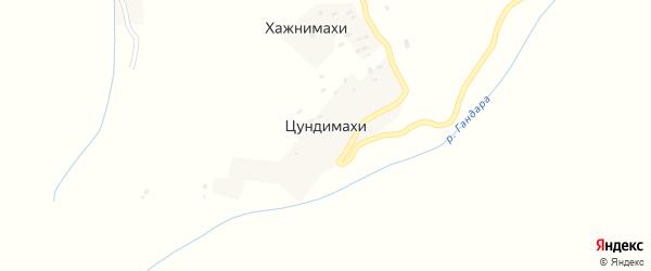 Улица А.Акушинского на карте хутора Цундимахи с номерами домов