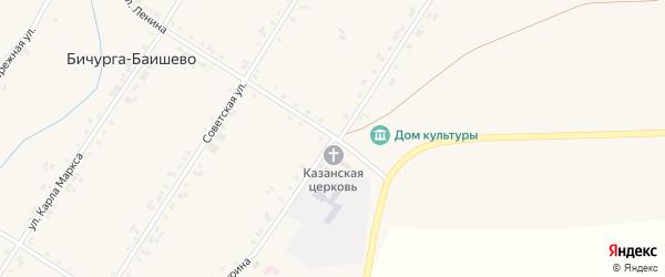 Улица Мичурина на карте села Бичурга-Баишево с номерами домов