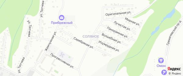Изумрудная улица на карте Чебоксар с номерами домов