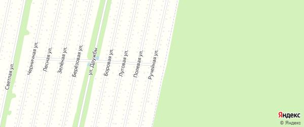 Ручейная улица на карте садового некоммерческого товарищества СОТА Птицевода с номерами домов