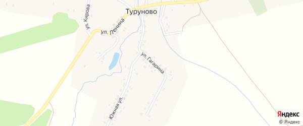 Улица Ленина на карте деревни Туруново с номерами домов