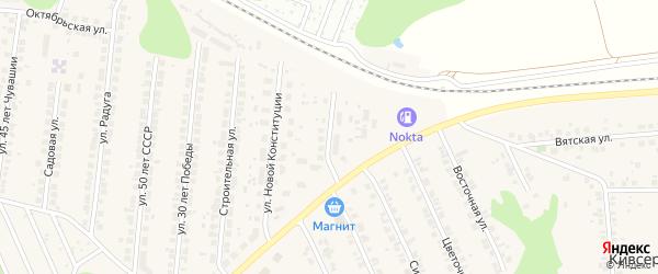 Улица Мелиораторов на карте поселка Кугеси с номерами домов