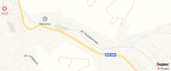 Улица Янц на карте села Какамахи с номерами домов