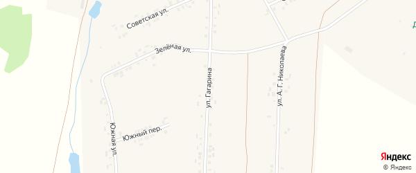 Улица Гагарина на карте деревни Вудоялы с номерами домов