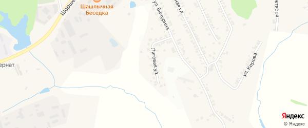 Луговая улица на карте поселка Кугеси с номерами домов