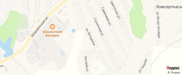 Улица Бичурина на карте поселка Кугеси с номерами домов