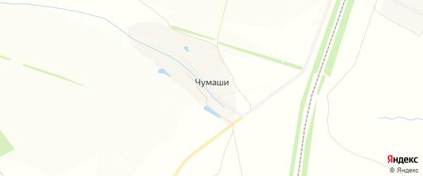 Карта деревни Чумашей в Чувашии с улицами и номерами домов