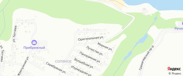 Оригинальная улица на карте Чебоксар с номерами домов