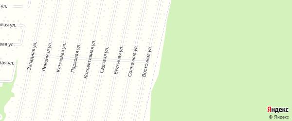 Восточная улица на карте населенного пункта СНТ Зори Севера с номерами домов