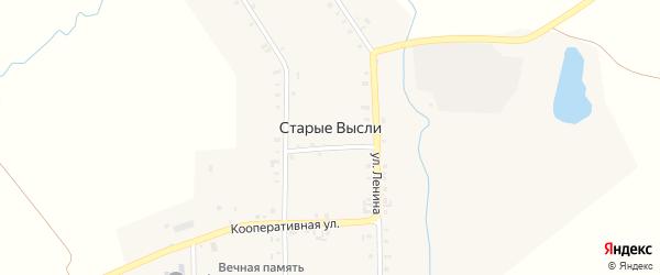 Лесная улица на карте деревни Старые Высли с номерами домов