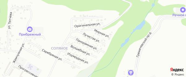 Лучистая улица на карте Чебоксар с номерами домов