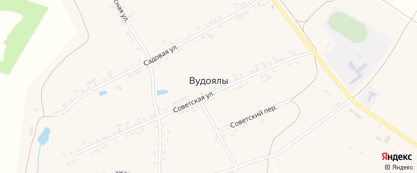 Советский переулок на карте деревни Вудоялы с номерами домов