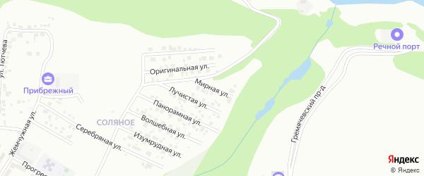 Мирная улица на карте Чебоксар с номерами домов