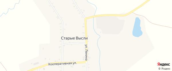 Улица Ленина на карте деревни Старые Высли с номерами домов