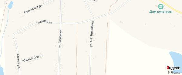 Улица А.Г.Николаева на карте деревни Вудоялы с номерами домов