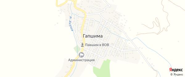 Центральная улица на карте села Гапшимы с номерами домов