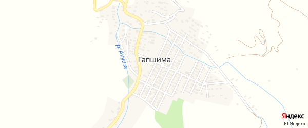 Спортивная улица на карте села Гапшимы с номерами домов