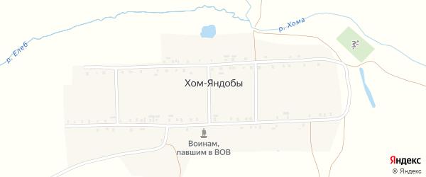 Речная улица на карте деревни Хом-Яндобы с номерами домов