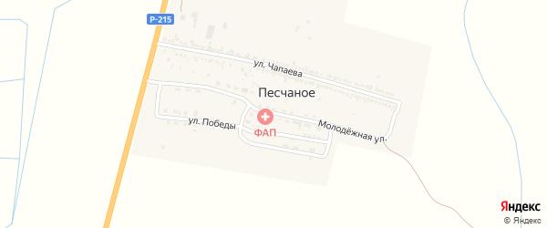 Молодежная улица на карте Песчаного села с номерами домов