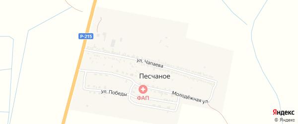 Улица Чапаева на карте Песчаного села с номерами домов