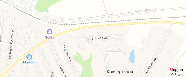 Вятская улица на карте поселка Кугеси с номерами домов