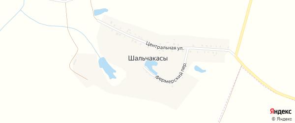 Центральная улица на карте деревни Шальчакасы с номерами домов