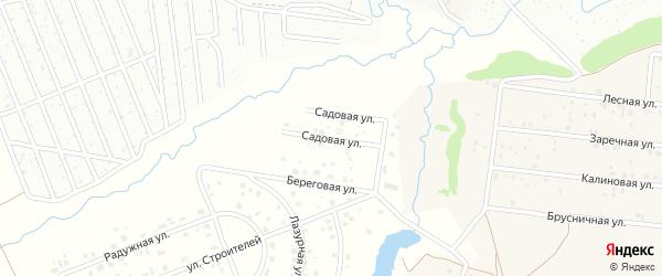 Садовая улица на карте Чебоксар с номерами домов