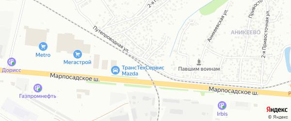 Путепроводная улица на карте Чебоксар с номерами домов