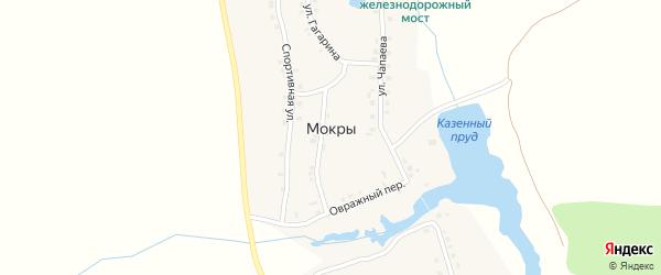 Улица Кибечи на карте деревни Мокры с номерами домов
