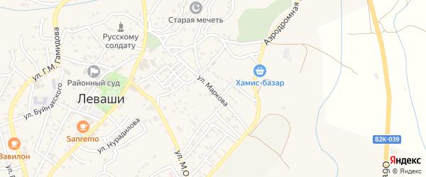 Улица Маркова на карте села Левашей с номерами домов