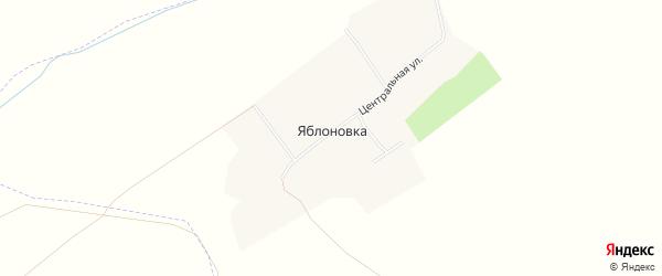Карта деревни Яблоновки в Чувашии с улицами и номерами домов