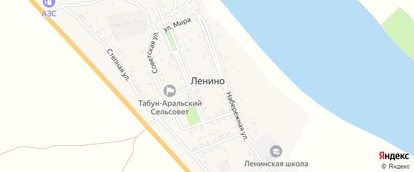 Молодежная улица на карте села Ленино с номерами домов