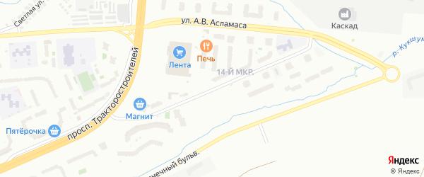 Улица А.В.Асламаса на карте Чебоксар с номерами домов
