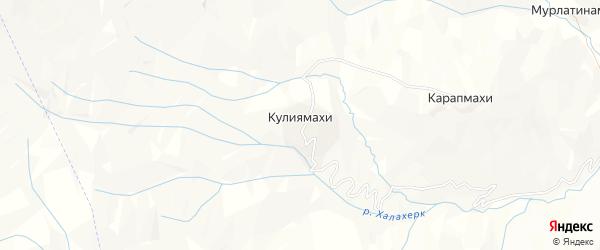 Карта хутора Кулиямахи в Дагестане с улицами и номерами домов