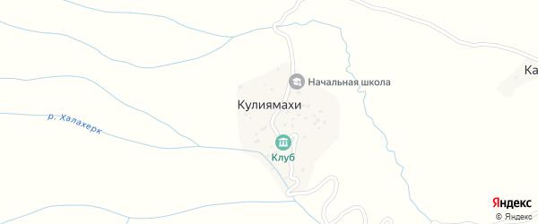Улица Саъдуева на карте хутора Кулиямахи с номерами домов