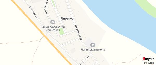 Набережная улица на карте села Ленино с номерами домов