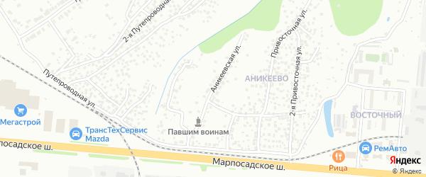 Аникеевская улица на карте Чебоксар с номерами домов