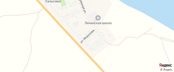 Улица Морозова на карте села Ленино с номерами домов